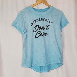 Permanently Don't Care Short sleeve tee